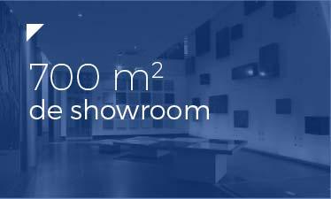700 mètres carrés de showroom